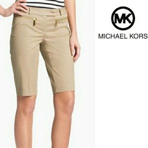 Michael Kors Khaki Bermuda Shorts.        (A24)